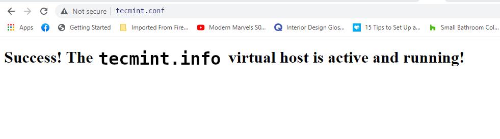 Check Apache Virtual Host Domain