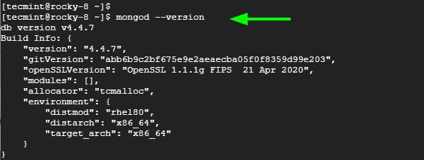 Check MongoDB Version