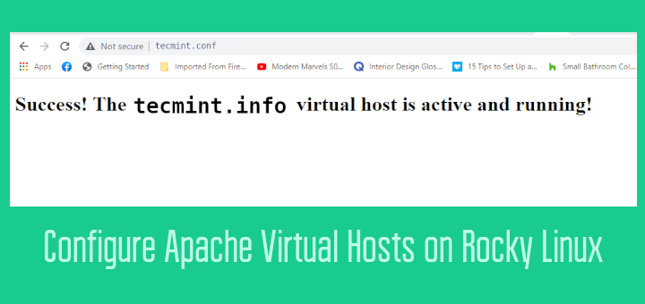 Create Apache Virtual Hosts on Rocky Linux