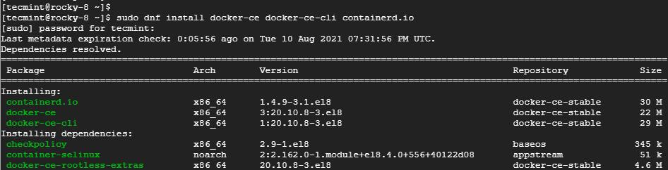 Install Docker in Rocky Linux
