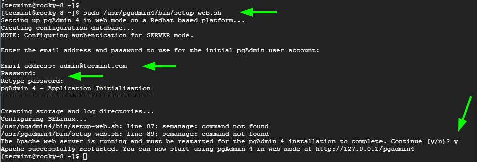 Configurar PgAdmin en Rocky Linux