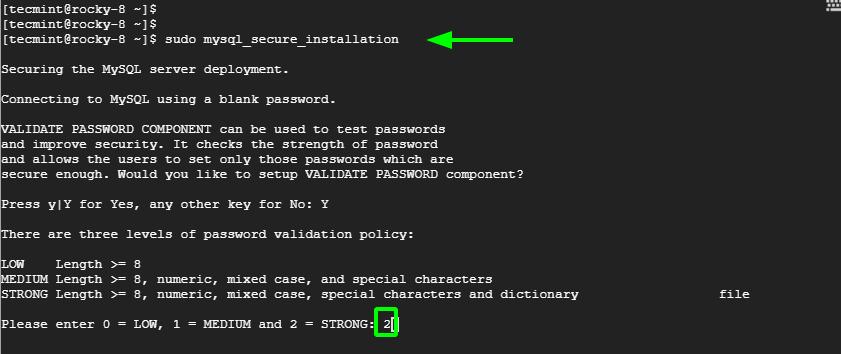 Validate MySQL Password Policy