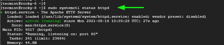 Echa un vistazo a Apache en Rocky Linux