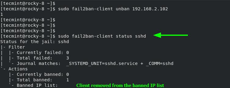 Check Fail2ban Block List