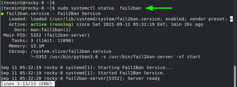 Check Fail2ban Status
