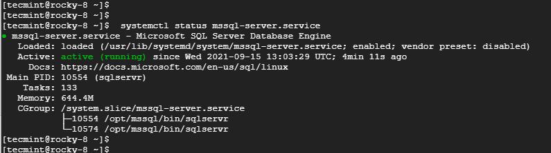 Verifique el estado de SQL Server