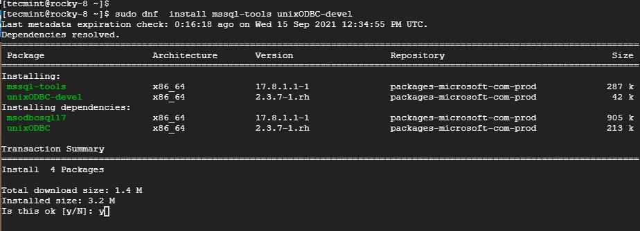 Instale las herramientas de Microsoft SQL Server