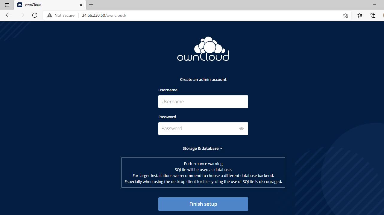 Registro OwnCloud