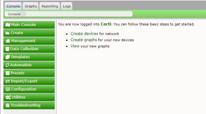 Cacti Dashboard