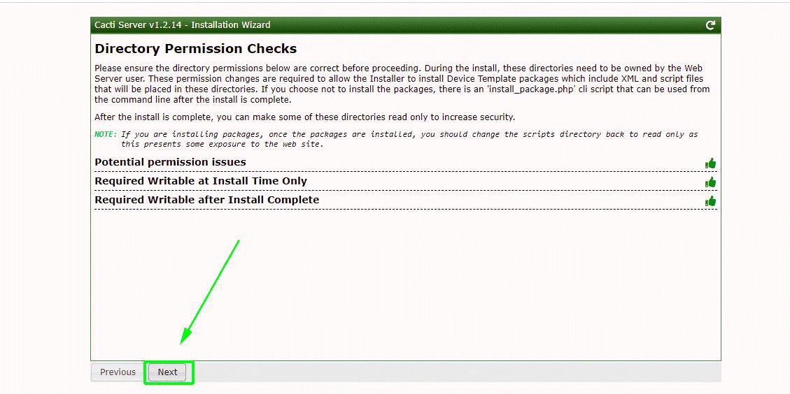 Cacti Permission Check