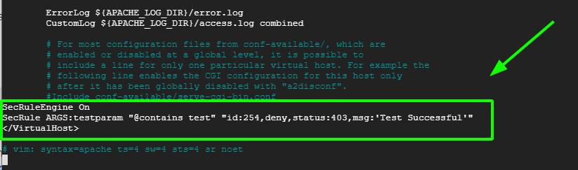 Test ModSecurity on Ubuntu